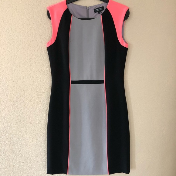 7ba4370e0022c Tahari Dresses | Arthur S Levine Color Block Dress Sz 8 | Poshmark